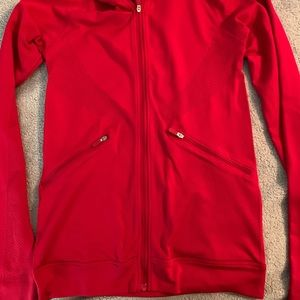 Lululemon red hooded jacket excellent condition